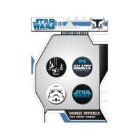Star Wars: Pack de 4 Chapas Empire
