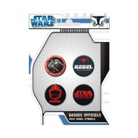 Star Wars: Pack de 4 Chapas Rebel