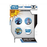 Star Wars: Pack de 4 Chapas Clone Wars