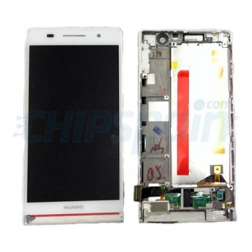 Full Screen with Frame Huawei Ascend P6 -White