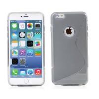 Funda TPU S-Line iPhone 6 Plus -Gris Transparente