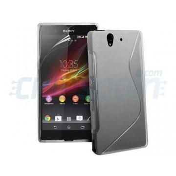 TPU case S-Line Sony Xperia Z -Grey Transparent