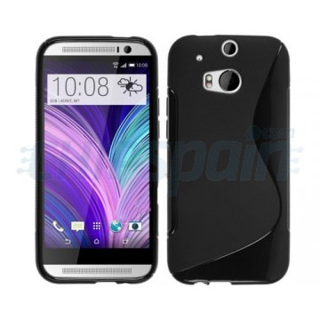 Funda TPU S-Line HTC One M8 - Negro