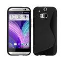 TPU case S-Line HTC One M8 - Black