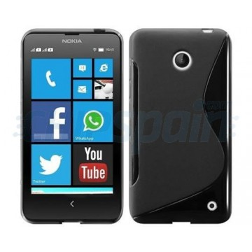 Funda TPU S-Line Nokia Lumia 630 - Negro