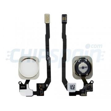 Botão Home Completo com Flex iPhone 5S iPhone SE Branco