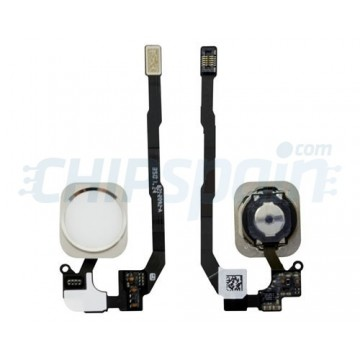 Botón Home Completo con Flex iPhone 5S iPhone SE Blanco