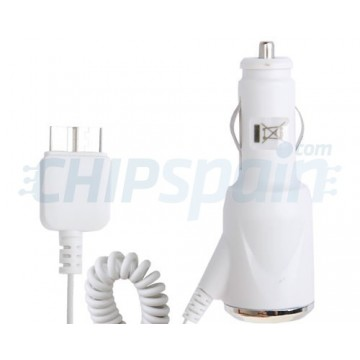 Micro USB Car Charger Samsung Galaxy S5/Note 3/Note 4 -Branco