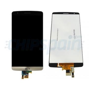 Ecrã Tátil Completo LG G3 S/LG G3 Mini (D722) -Ouro