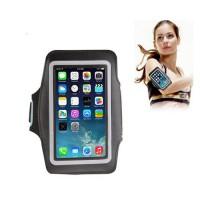 Brazalete Sport Reflectante iPhone 6/Samsung Galaxy S4/SIII -Negro