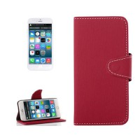 Funda Denim con Tarjetero iPhone 6 -Rojo