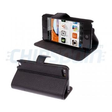 Litchi Skin Case Cover iPod Touch 5 Gen. -Black