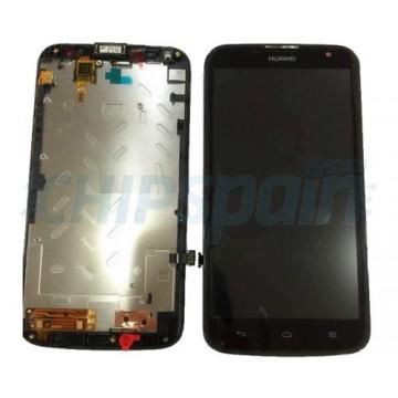 Tela Cheia com Moldura Huawei Ascend G730 -Preto