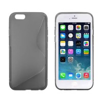 Funda TPU S-Line iPhone 6 -Gris Transparente