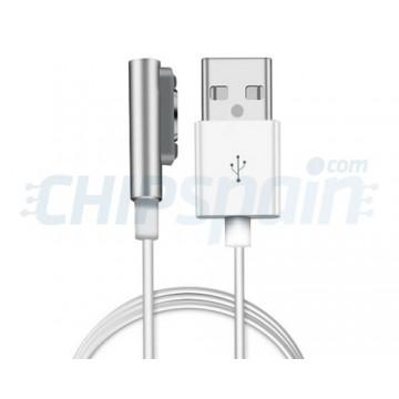 Cable de Carga Magnético Sony Xperia Z1/Z2/Z3/Compact Plata