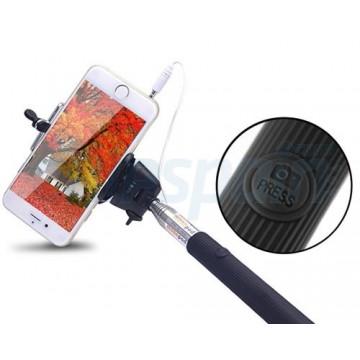 Palo extensível ajustável (selfie Stick) Smartphone Universal com botão do obturador via cabo