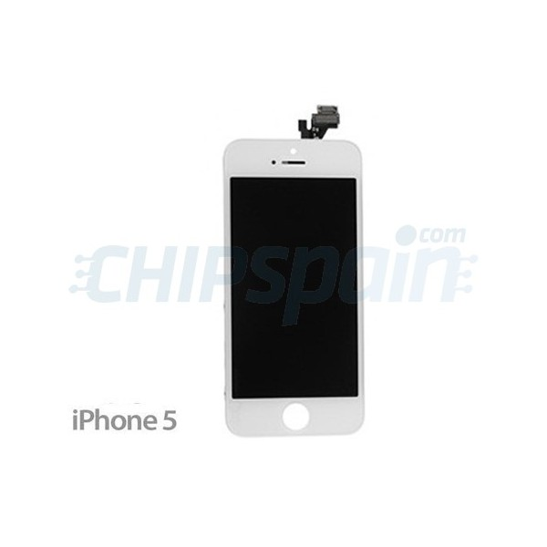 f7bed387fdc Pantalla Completa iPhone 5 Compatible -Blanco