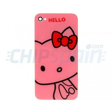 Vidro e traseira iPhone 4S -Hello Kitty Rosa