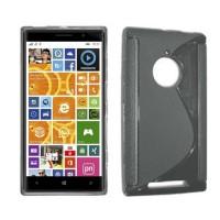 Funda TPU S-Line Nokia Lumia 830 -Gris Transparente