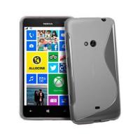 Funda TPU S-Line Nokia Lumia 625 -Gris Transparente