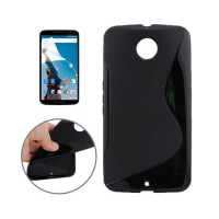 Funda TPU S-Line Motorola Nexus 6 (XT1100) -Negro