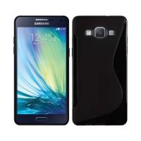 Funda TPU S-Line Samsung Galaxy A3 (A300F) -Negro