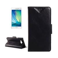 Funda de Piel con Tarjetero Samsung Galaxy A5 (A500F) -Negro