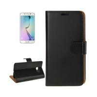 Funda de Piel con Tarjetero Samsung Galaxy S6 Edge (G925F) -Negro