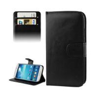 Funda de Piel con Tarjetero Samsung Galaxy S4 (i9500/i9505/i9506) -Negro