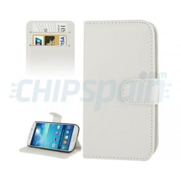 Funda de Piel con Tarjetero Samsung Galaxy S4 (i9500/i9505/i9506) -Blanco