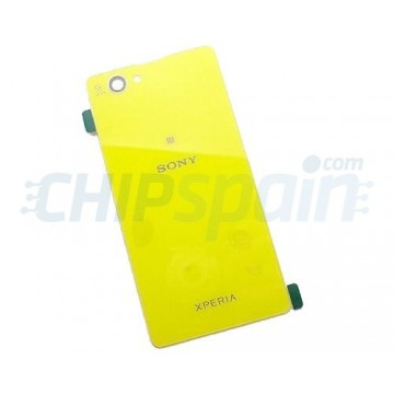 Glass Back Cover Sony Xperia Z1 Compact -Yellow