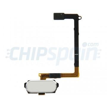 Botón Home Completo con Flex y lector de huellas ID Samsung Galaxy S6 (G920F) -Blanco
