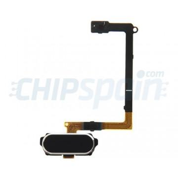 Completo com Flex Botão Home impressão digital e ID Samsung Galaxy S6 (G920F) -Preto