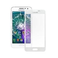 Cristal Exterior Samsung Galaxy A3 (A300F) -Blanco