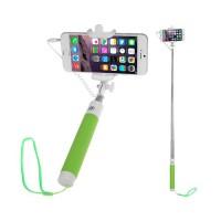 Palo Extensible Ajustable (Selfie Stick) Smartphone Universal con Botón Disparador -Verde