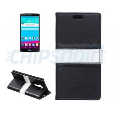 Caso Pele com Porta Cartões LG G4 (H815) -Preto
