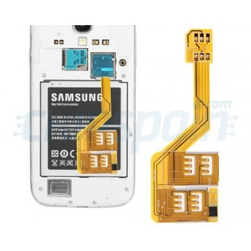 Triple SIM Adapter Samsung Galaxy S4/S5