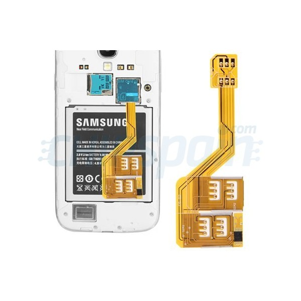 Triple SIM Adapter Samsung Galaxy S4/S5 - ChipSpain.com