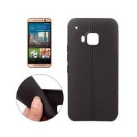 Funda TPU Leather HTC One M9 -Negro