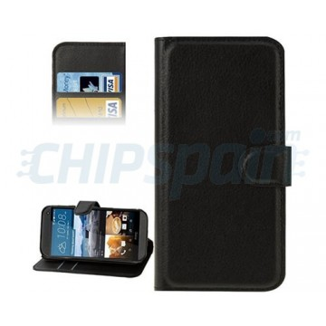 Leather Case with Card Holder HTC One M9 -Black