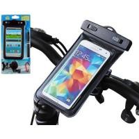 Funda con Soporte Bici Impermeable Waterproof iPhone/Smartphone -Negro