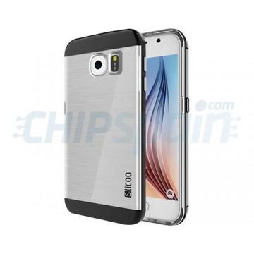 Capa de TPU Slicoo Samsung Galaxy S6 (G920F) -Transparente/Preto