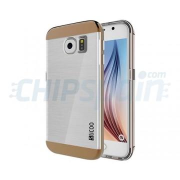 Capa de TPU Slicoo Samsung Galaxy S6 (G920F) -Transparente/Cafe