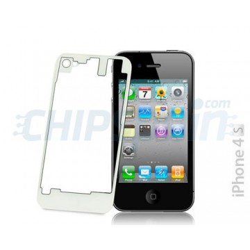 Glass and Rear Frame iPhone 4S -Transparent/White