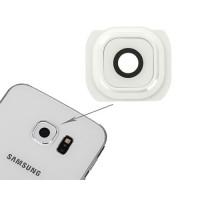 Embellecedor Cámara Trasera Samsung Galaxy S6 (G920F) -Blanco