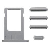 Pack de Botones + PortaSIM iPhone 6/iPhone 6 Plus -Gris Espacial