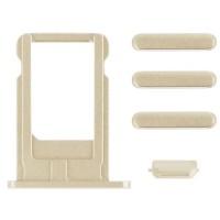 Pack de Botones + PortaSIM iPhone 6/iPhone 6 Plus -Oro