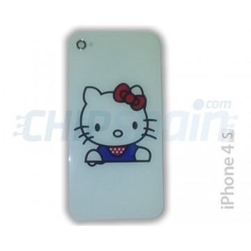 Glass and Rear Frame iPhone 4S -Hello Kitty White