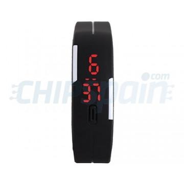 6a509219422a Reloj Digital de Pulsera Deportivo LED UNISEX Negro