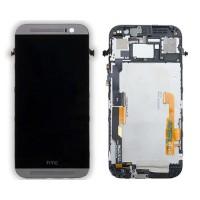 Tela Cheia com Moldura HTC One M8 -Preto